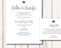 Kathleen & Kristofer Wedding Invitations