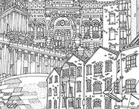 Leeds Cityscape illustration / Client: Oblong Furniture