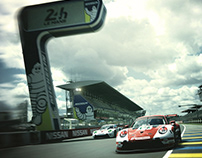 PORSCHE 911RSR Le Mans'70 hommage livery