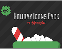 Free Holiday Icons Pack - After Effects Freebie
