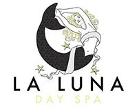 La Luna Day Spa Logo Design and Print Products