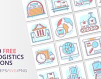 Free 20 Logistics Vector Icons