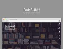 Rakbuku - One Page Template | Free PSD & HTML