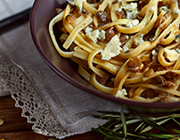 Food Photography Pasta with lentils