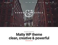 Matty - Material Design Powerful WordPress Theme