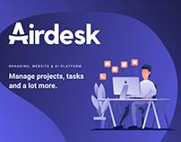 Airdesk AI Platform UI Branding and +150 UI screens