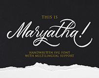Maryatha (SVG Font)