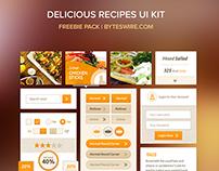 Freebie: Delicious Recipes UI Kit