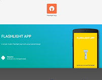 Material Design Flashlight App (Android 2.3)