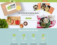 Vegan apron homepage and landing responsive webdesign