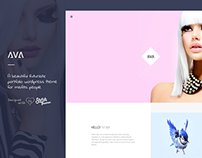 AVA - Futuristic Portfolio & Blogging WP Theme