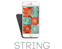 String - Augmented Reality App, UI design/branding