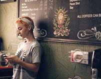 Jordan in the coffee shop, Florida