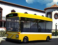 City Bus Cartoon 3D