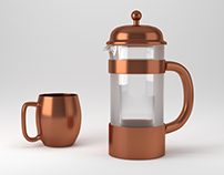 Blender 3D Moscow mule mug & french press
