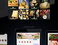 Оформление соц. сетей для магазина вкусных продуктов