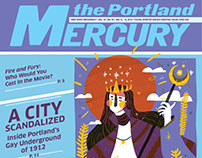 Portland Mercury Illustration Cover January 2018