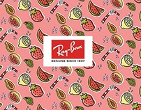 Ray Ban Ad design and Pattern Design