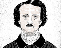 Edgar Allan Poe- B&W/Poem Illustration