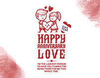 T-shirt Design for Marriage Anniversary of a Client