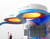 Novartis ophthalmology exhibition stand design & 3D CGI
