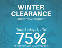 Winter Clearance postcards