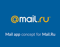Mail app concept for Mail.Ru