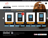 Oliver's Petfood E-Commerce Website Design