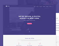 Srizon Digital Agency Web template FREE PSD