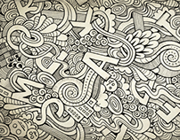Hand drawn doodle letters