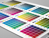 CMYK Process Printing Swatch Reference Chart