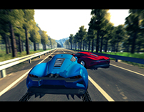 Mobile Racing Game. Unity3d
