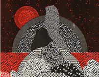 Dark skies Riso prints