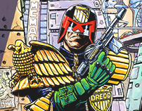 Judge Dredd Illustration