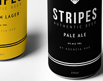 STRIPES AUTHENTIC BEER