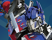 Optimus Prime Vector