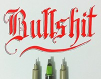 Brushpen & Flat Pen Lettering Set 4