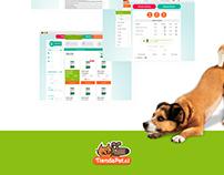 Tienda Pet - Sitio e-commerce