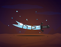 313 Zulfiqar sword illustration