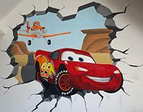 Disney Cars Mural
