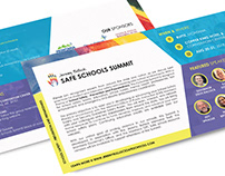 Safe Schools Summit – Event Postcard Design