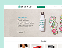 Merald - Website for printing artwork on real product