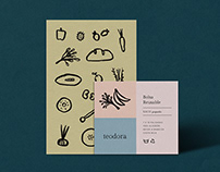 Teodora: Logo, labels and stationery