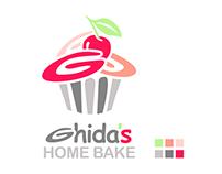 Ghida's Home Bake Logo Design