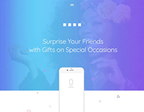 Social App Landing Page Design - UX/UI