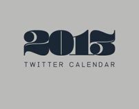 2013 Twitter Calendar