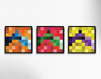 Pixelated Color Series
