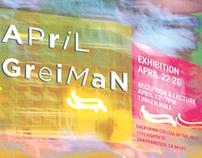 April Greiman Exhibit Poster