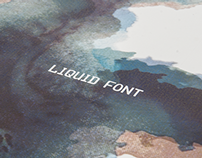 Liquid display Font