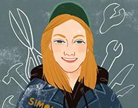 Simone Giertz portrait